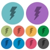 Lightning energy color darker flat icons - Lightning energy darker flat icons on color round background