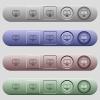 Change to fullscreen view icons on horizontal menu bars - Change to fullscreen view icons on rounded horizontal menu bars in different colors and button styles
