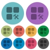 Component tools color darker flat icons - Component tools darker flat icons on color round background