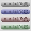 Database macro pause icons on horizontal menu bars - Database macro pause icons on rounded horizontal menu bars in different colors and button styles