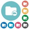 Parent directory flat round icons - Parent directory flat white icons on round color backgrounds