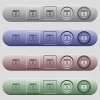 Waiting application icons on horizontal menu bars - Waiting application icons on rounded horizontal menu bars in different colors and button styles