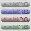 Dollar bank ATM icons on horizontal menu bars - Dollar bank ATM icons on rounded horizontal menu bars in different colors and button styles