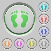 Human Footprints push buttons - Human Footprints color icons on sunk push buttons