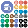 Bitcoins round flat multi colored icons - Bitcoins multi colored flat icons on round backgrounds. Included white, light and dark icon variations for hover and active status effects, and bonus shades on black backgounds.