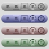 Database notifications icons on rounded horizontal menu bars in different colors and button styles - Database notifications icons on horizontal menu bars