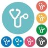 Stethoscope flat round icons - Stethoscope flat white icons on round color backgrounds