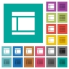 Two columned web layout square flat multi colored icons - Two columned web layout multi colored flat icons on plain square backgrounds. Included white and darker icon variations for hover or active effects.