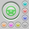 Steering wheel push buttons - Steering wheel color icons on sunk push buttons
