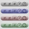 Active firewall icons on horizontal menu bars - Active firewall icons on rounded horizontal menu bars in different colors and button styles
