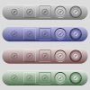 Simple compass icons on horizontal menu bars - Simple compass icons on rounded horizontal menu bars in different colors and button styles