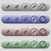 Yen price label icons on rounded horizontal menu bars in different colors and button styles - Yen price label icons on horizontal menu bars