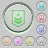 Military rank push buttons - Military rank color icons on sunk push buttons