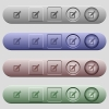 Editing box with pencil icons on horizontal menu bars - Editing box with pencil icons on rounded horizontal menu bars in different colors and button styles