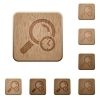 Query time wooden buttons - Query time on rounded square carved wooden button styles