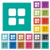 Component stop square flat multi colored icons - Component stop multi colored flat icons on plain square backgrounds. Included white and darker icon variations for hover or active effects.
