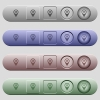 Checkpoint GPS map location icons on rounded horizontal menu bars in different colors and button styles - Checkpoint GPS map location icons on horizontal menu bars