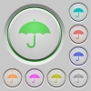Umbrella push buttons - Umbrella color icons on sunk push buttons