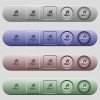 Home insurance icons on horizontal menu bars - Home insurance icons on rounded horizontal menu bars in different colors and button styles