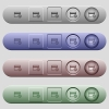 Ruble credit card icons on horizontal menu bars - Ruble credit card icons on rounded horizontal menu bars in different colors and button styles