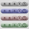 Select database table column icons on rounded horizontal menu bars in different colors and button styles - Select database table column icons on horizontal menu bars