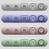 Lira cash machine icons on horizontal menu bars - Lira cash machine icons on rounded horizontal menu bars in different colors and button styles