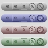Wrench with cogwheel icons on horizontal menu bars - Wrench with cogwheel icons on rounded horizontal menu bars in different colors and button styles