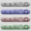 Certified contact icons on horizontal menu bars - Certified contact icons on rounded horizontal menu bars in different colors and button styles