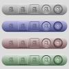 Tag playlist icons on horizontal menu bars - Tag playlist icons on rounded horizontal menu bars in different colors and button styles