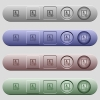 Contact disabled icons on horizontal menu bars - Contact disabled icons on rounded horizontal menu bars in different colors and button styles