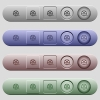 Movie roll icons on horizontal menu bars - Movie roll icons on rounded horizontal menu bars in different colors and button styles