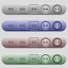 Barbell icons on horizontal menu bars - Barbell icons on rounded horizontal menu bars in different colors and button styles
