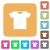 T-shirt rounded square flat icons - T-shirt flat icons on rounded square vivid color backgrounds.