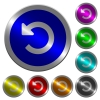 Undo changes luminous coin-like round color buttons - Undo changes icons on round luminous coin-like color steel buttons