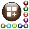 Move component color glass buttons - Move component white icons on round color glass buttons