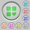 Favorite component push buttons - Favorite component color icons on sunk push buttons