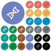 DNA molecule round flat multi colored icons - DNA molecule multi colored flat icons on round backgrounds. Included white, light and dark icon variations for hover and active status effects, and bonus shades on black backgounds.