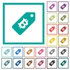 Bitcoin price label flat color icons with quadrant frames - Bitcoin price label flat color icons with quadrant frames on white background