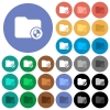 Directory protection round flat multi colored icons - Directory protection multi colored flat icons on round backgrounds. Included white, light and dark icon variations for hover and active status effects, and bonus shades on black backgounds.