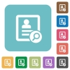 Find contact rounded square flat icons - Find contact white flat icons on color rounded square backgrounds