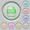 BAK file format push buttons - BAK file format color icons on sunk push buttons
