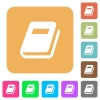 Personal diary rounded square flat icons - Personal diary flat icons on rounded square vivid color backgrounds.