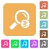 Search in compressed files rounded square flat icons - Search in compressed files flat icons on rounded square vivid color backgrounds.