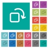 Rotate element square flat multi colored icons - Rotate element multi colored flat icons on plain square backgrounds. Included white and darker icon variations for hover or active effects.