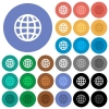 Globe round flat multi colored icons - Globe multi colored flat icons on round backgrounds. Included white, light and dark icon variations for hover and active status effects, and bonus shades on black backgounds.