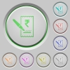 Signing Rupee cheque color icons on sunk push buttons - Signing Rupee cheque push buttons