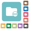 Link directory rounded square flat icons - Link directory white flat icons on color rounded square backgrounds