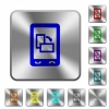 Change mobile display orientation rounded square steel buttons - Change mobile display orientation engraved icons on rounded square glossy steel buttons