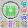 Favorite movie push buttons - Favorite movie color icons on sunk push buttons