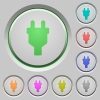 Power connector push buttons - Power connector color icons on sunk push buttons
